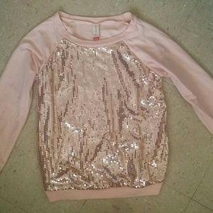 Pink no boundaries sequins sweater